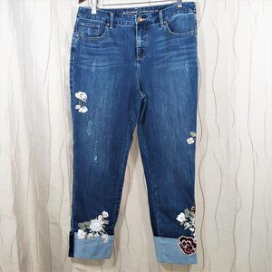 "CHICOS NEW ""2"" 12 So Slimming Ankle Jeans Denim"